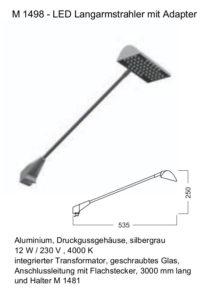 M1498-LED-Langarmstrahler