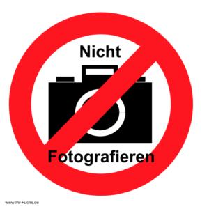 Nicht fotografieren